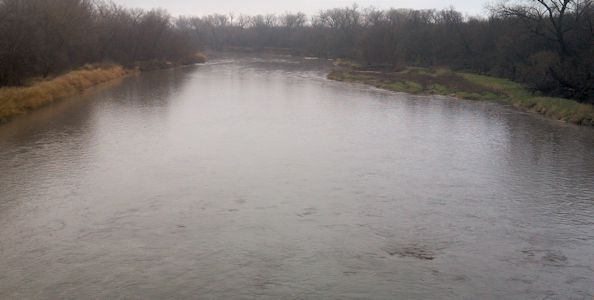 1,500 cfs at Republican River at Concordia, KS on Apr. 17, 2013. Photo by Travis See, USGS.