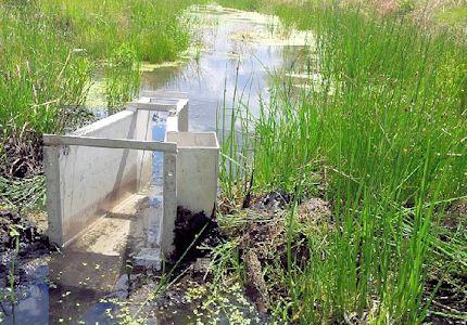 0.007 cfs at Big Creek near Ellis, KS on May 14, 2013. Photo by Lori Marintzer, USGS.