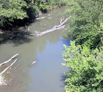 Lyon Creek near Junction City, KS on June 21, 2012. Photo by Dirk Hargadine, USGS.