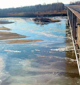 650 cfs at Kansas River near Belvue, KS on Jan. 16, 2013. Photo by Arin Peters, USGS.