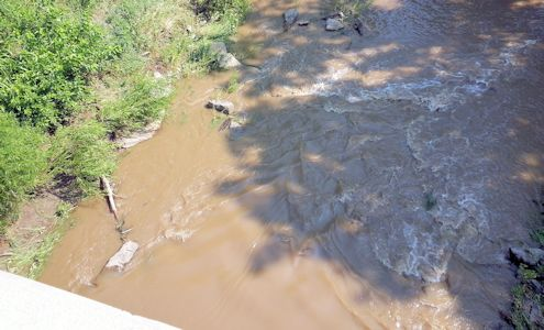 62.4 cfs at Soldier Creek near Delia, KS on July 31, 2013. Photo by Duane Wilmes, USGS.