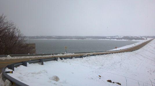 Pomona Lake near Quenemo, KS on Mar. 1, 2013. Photo by Anita Kroska, USGS.