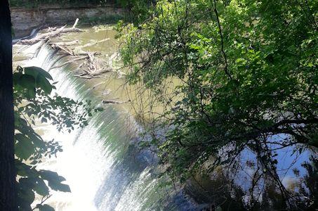 51.8 cfs at Marais des Cygnes River near Pomona, KS on June 18, 2013. Photo by Anita Kroska, USGS.