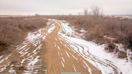 0.00 cfs at Arkansas River at Deerfield, KS on Jan. 10, 2013. Photo by Andrew Clark, USGS.