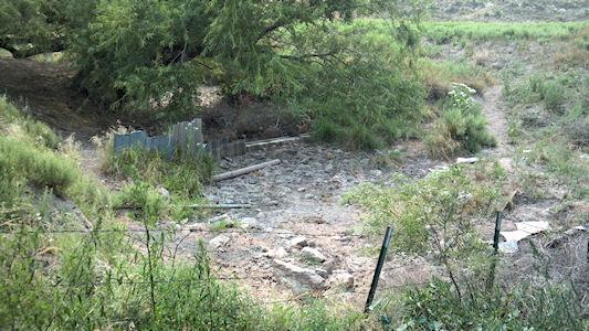 0.00 cfs at Buckner Creek below Horsethief Reservoir near Jetmore, KS on Aug. 15, 2012. Photo by Travis See, USGS.
