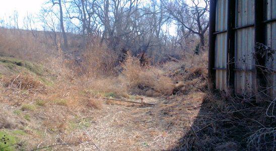 0.00 cfs at Buckner Creek near Jetmore, KS on Mar. 18, 2013. Photo by Andrew Clark, USGS.