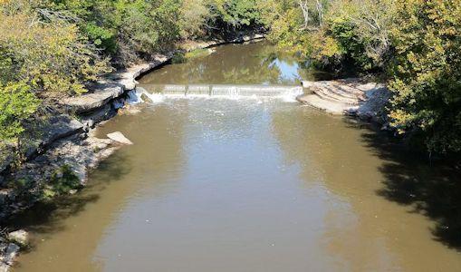 57.1 cfs at Grouse Creek near Silverdale, KS on Oct. 20, 2014. Photo by Slade Hackney, USGS.