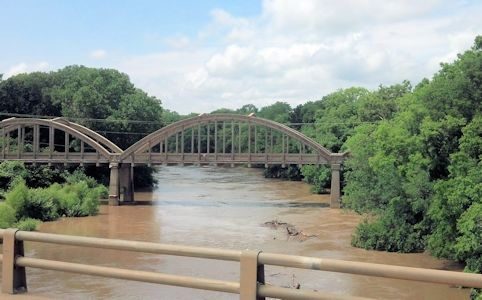 16,000 cfs at Verdigris River at Independence, KS on July 30, 2013. Photo by Arin Peters, USGS.